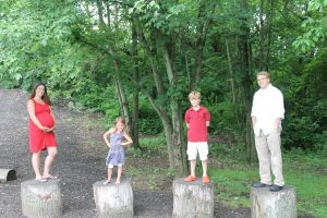 Family on Stumps