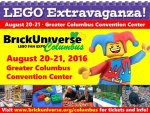 Central Ohio: BrickUniverse LEGO Extravaganza (August 20-21, 2016)