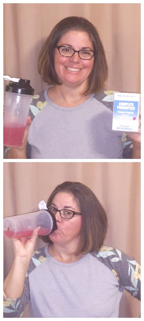 Dr Mercola drinking Probiotic drink made with Probiotic powder packet